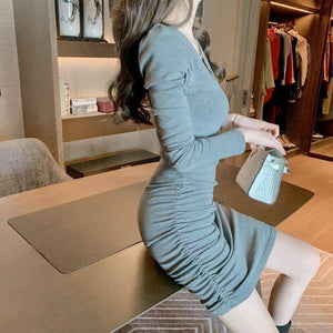 Autumn Woman Clothes Bodycon Dress Sexy Party Dress Long Sleeve Solid Color Mini Dresses For Women Fall 2020 Women's Clothing | 2020, Autumn, Bodycon, Clothes, Clothing, Color, Dress, Dresses, Fall, For, Long, Mini, Party, Sexy, Sleeve, Solid, Woman, Women, Womens | akolzol