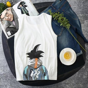 Tank Top Men Summer Casual Gym Tops Vest Japanese Fashion Summer Cotton Fitness Anime Streetwear Tanktop 2020 | akolzol