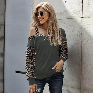 New Spring Autumn Woman Tshirt Sexy One Word Collar Long Sleeve Top Patchwork Aesthetic Shirt Fashion Women's Fall Clothing 2020 | 2020, Aesthetic, Autumn, Clothing, Collar, Fall, Fashion, Long, New, One, Patchwork, Sexy, Shirt, Sleeve, Spring, Top, Tshirt, Woman, Womens, Word | akolzol