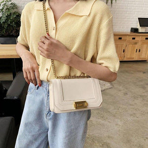 Simple Chain Design Bags Samll PU Leather Crossbody Bags For Women 2020 Female Solid Color Fashion Wild Shoulder Handbags | 2020, Bags, Chain, Color, Crossbody, Design, Fashion, Female, For, Handbags, Leather, PU, Samll, Shoulder, Simple, Solid, Wild, Women | akolzol