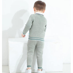 Baby Boy Knitted Clothes Set Children Knit Pullover + Pants Autumn Winter Toddler Knitwear Outfits infant Knitting Sweaters | akolzol
