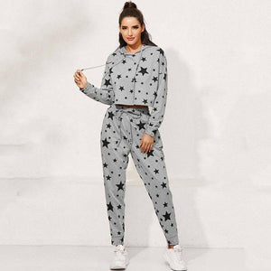 2020 Autumn Tracksuit Women Sets Star Winter Warm Two Piece Set Women Sweat Suits 2 Piece Outfit Tracksuit For Women | akolzol
