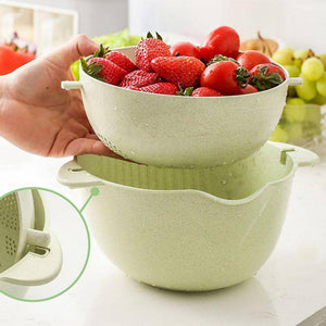 1Pc Kitchen Basket Container Household Drain Rack Fruit Vegetable Storage Holder Snack Tray Storage Bowl Sink Filter Shelf | akolzol