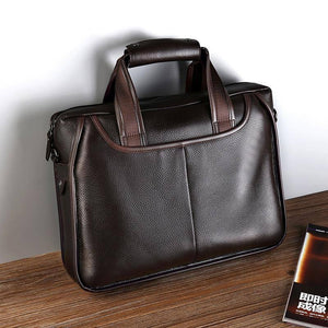 Luxury men vintage genuine leather briefcase business laptop bags men designer handbags messenger bag high quality bolso hombre | akolzol