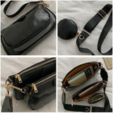 Small Pu Leather Crossbody Bags for Women Fashion Solid Color Simple Shoulder Bags Women's Trending Handbags | akolzol