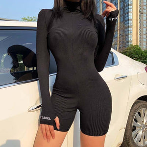 2020 Autumn Ribbed Playsuit Women Long Sleeve Workout Fitness Playsuit Bodycon Romper Women Short Jumpsuit Overalls For Women | 2020, Autumn, Bodycon, Fitness, For, Jumpsuit, Long, Overalls, Playsuit, Ribbed, Romper, Short, Sleeve, Women, Workout | akolzol
