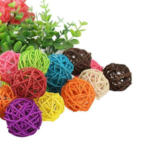 10pcs 5cm Mix Color Round  Rattan Ball Wedding Christmas DIY Craft Sepak Takraw Ornament Home Party Decoration Kids Toy | 10, Ball, Christmas, cm, Color, Craft, Decoration, DIY, Home, Kids, Mix, Ornament, Party, pcs, Rattan, Round, Sepak, Takraw, Toy, Wedding | akolzol