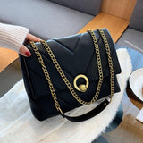 Small Chain Pu Leather Crossbody Bags for Women 2021 New Winter Trend High Quality Handbag Women's Luxury Designer Shoulder Bag | akolzol