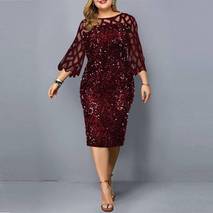 Party Dresses Sequin Plus Size