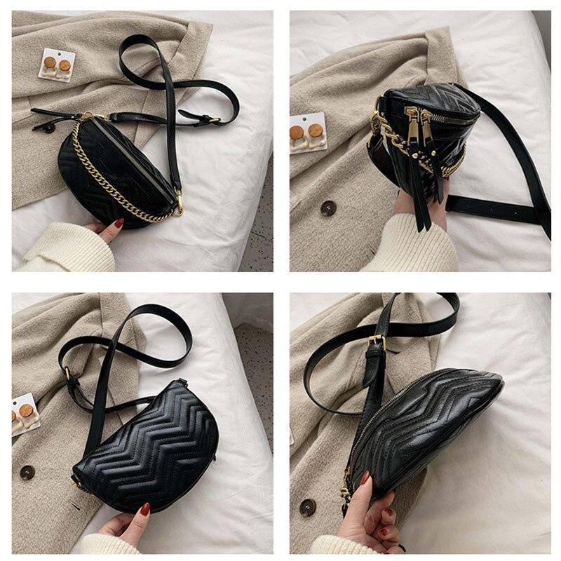 Fashion Chain Design PU Leather Small Black Crossbody Bags For Women 2020 Solid Color Wild Shoulder Bags Female Travel Handbags | 2020, Bags, Black, Chain, Color, Crossbody, Design, Fashion, Female, For, Handbags, Leather, PU, Shoulder, Small, Solid, Travel, Wild, Women | akolzol