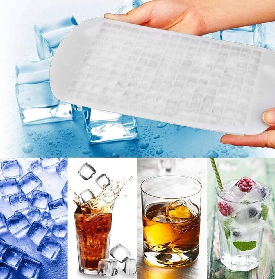 Small Square Shape Flexible Safe BPA Free Frozen 160 Trays Mini Ice Cube Silicone Molds without Lids | 160, BPA, Cube, Flexible, Free, Frozen, Ice, Lids, Mini, Molds, Safe, Shape, Silicone, Small, Square, Trays, without | akolzol