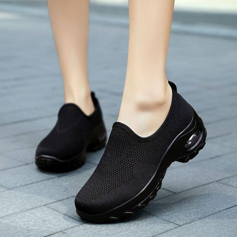 2020 Summer New Casual Slip On Shoes For Women Fashion Woman Breathable Platform Womens Sneakers Flats Tenis Feminino Plataforma | akolzol