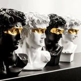 Home Decoration Accessories David People Resin Statue Europe Abstract Modern Sculpture Statue Mythology Art Home Decor Ornaments | akolzol
