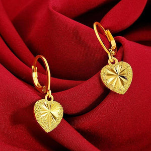Not Fade Forever 18K Gold Jewelry Dorp Earring for Women Aretes De Mujer Orecchini Bizuteria Garnet Birthstone Jewelry Earrings (Gold-color) | akolzol