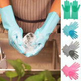 1Pair Dishwashing Cleaning Gloves Magic 100% Silicone Rubber Dish Washing Glove for Household Scrubber Kitchen Clean Tool Scrub | 100%, Clean, Cleaning, Dish, Dishwashing, for, Glove, Gloves, Household, Kitchen, Magic, Pair, Rubber, Scrub, Scrubber, Silicone, Tool, Washing | akolzol