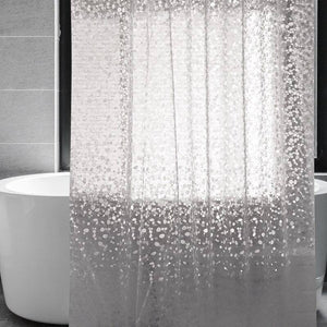 Transparent EVA shower curtain 3D stone pattern waterproof shower curtain for bathroom screen with magnet for bathroom toilet | akolzol
