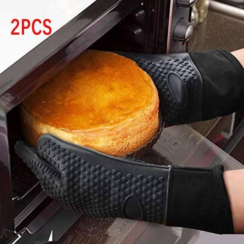 2Pieces Kitchen Heat-Resistant Oven Gloves Barbecue Grill Silicone Cooking Gloves One Pair BBQ Gloves With Long Sleeve Baking | Baking, Barbecue, BBQ, Cooking, Gloves, Grill, HeatResistant, Kitchen, Long, One, Oven, Pair, Pieces, Silicone, Sleeve, With | akolzol