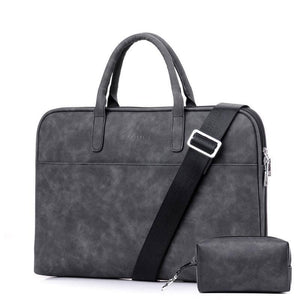 "17 inches 17.3"" Laptop Computer Bag Beautiful Simple Fashion Men Handbag Leather Business Women Briefcase 