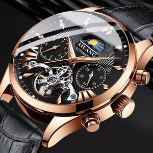 AILANG top luxury brand men's mechanical watch moon phase multi-function tourbillon watch diving clock men's business style |  | akolzol