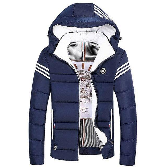 Warm Cotton Jacket Single-breasted Casual Thick Warm Hooded Jacket Men's Winter Thick Short Coat Youth | akolzol