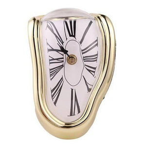 2019 New Novel Surreal Melting Distorted Wall Clocks Surrealist Salvador Dali Style Wall Watch Decoration Gift Home Garden | akolzol
