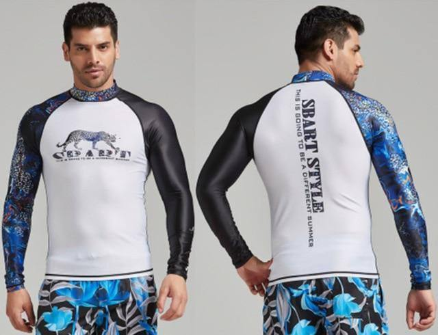 2020 Rashguard Men Long Sleeve Swimwear Swim Shirt Windsurf Surf Rash Guard Quick Dry Sails Diving Suit Swimming T Shirt | akolzol