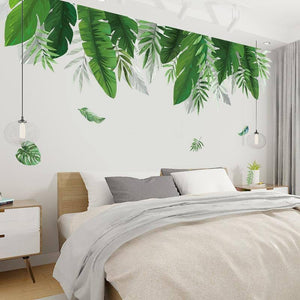 Tropical plants Banana leaf Wall Stickers for Living room Bedroom Eco-friendly Vinyl Wall Decals Art Murals Poster Home Decor | akolzol
