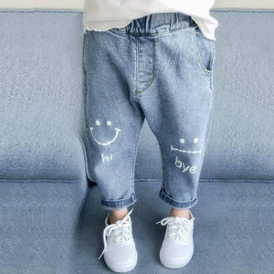 Spring Baby Girls Jeans Kids Clothes Cotton Loose Comfortable Long Denim Pants Elasticated Waist Casual Jeans For Girls 3-7Y |  | akolzol