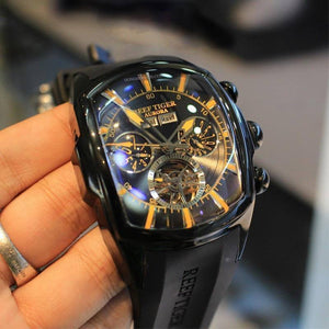 Reef Tiger/RT Top Brand Luxury Big Watch for Men Blue Dial Mechanical Tourbillon Sport Watches Relogio Masculino RGA3069 |  | akolzol