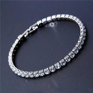 4mm Cubic Zirconia Tennis Bracelet Iced Out Chain Bracelets For Women Men Gold Silver Color Men Bracelet CZ Chain Homme Jewelry