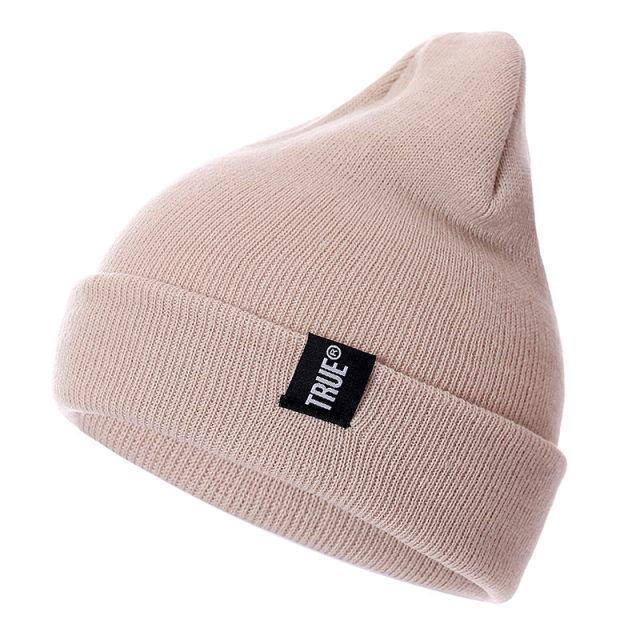 Letter True 10 Colors Casual Beanies for Men Women Fashion Knitted Winter Hat Solid Hip-hop Skullies Hat Bonnet Unisex Cap | akolzol