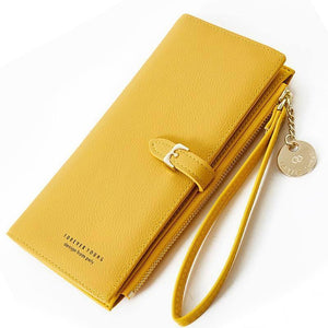 Wristband Women Long Wallet Many Departments Female Wallets Clutch Lady Purse Zipper Phone Pocket Card Holder Ladies Carteras |  | akolzol