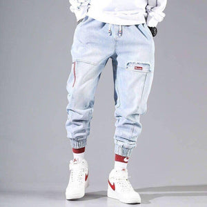 Streetwear Hip Hop Cargo Pants Men's jeans Cargo Pants Elastic Harun pants Joggers Pants In Autumn and Winter |  | akolzol