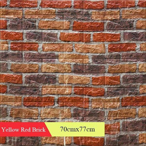 Wallpapers 3D Retro Simulated Brick Wall Decor Home Improvement Living room Bedroom Restaurant Wall Coving Wall Stickers | akolzol