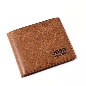 Top Men Wallets Mens Jeep Wallet with Coin Bag Small Money Purses New Design Dollar Slim Purse Money Clip Wallet | akolzol