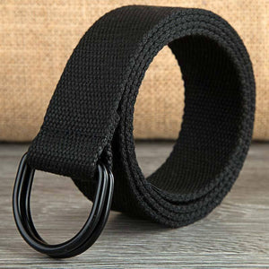 110-160cm Long Punk Canvas Belt Men Women Jeans Decorative Double D Ring Metal Buckle Belt Fashion Street Style Wild Waistband |  | akolzol