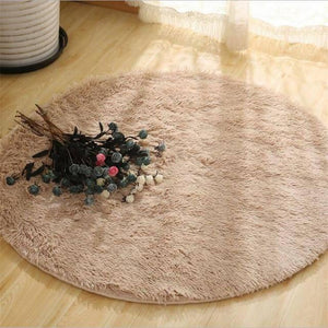Fluffy Round Rug Carpets for Living Room Decor Faux Fur Rugs Kids Room Long Plush Rugs for Bedroom Shaggy Area Rug Modern Mats | akolzol