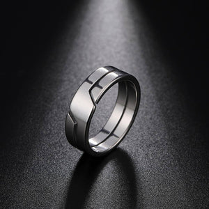 Skyrim Fashion Simple Stainless Steel Couple Ring for Women Men Casual Finger Rings Jewelry Engagement Anniversary Gift 2021 New