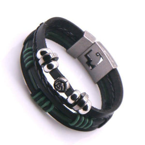 New 2020 High Quality Lucky Vintage Men's Leather Bracelet Charm Multilayer Braided Women Pulseira Masculina