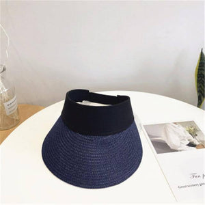 Magic Tape Panama Women Straw Hat Empty Top 2020 Women's Summer Hat Sun Protection Outdoor Sports Fishing Beach Chapeau MZ010 | akolzol