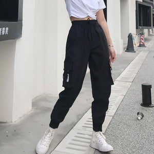 Hot Big Pockets Cargo pants women High Waist Loose Streetwear pants Baggy Tactical Trouser hip hop high quality joggers pants | akolzol