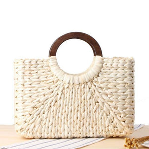Fashion Summer Square Straw Bags For Women New Handmade Weave Handbags Vacation Beach Bag Large Capacity Female Travel Totes | akolzol