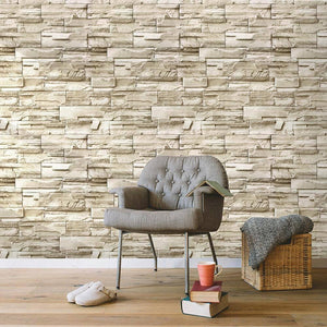 Stone Peel And Stick Wallpaper Faux Brick Vinyl Self-adhesive 3D Wallpaper For Bedroom Living Room Walls Home Decoration Sticker | akolzol