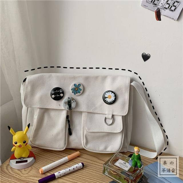 Canvas Diagonal Cross Bag Youth Fashion Casual Version Ladies Large Capacity Shoulder Bag Solid Color  Women Messenger Bags |  | akolzol