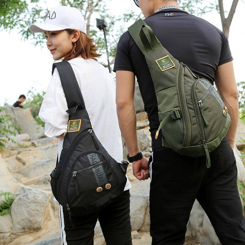 Waterproof Nylon Single Chest Bags For Men Fashion New Crossbody Bags Travel Unisex Messenger Bag iPad Pockets Male Chest Packs | akolzol