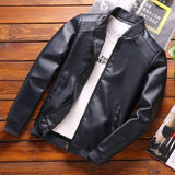 Thoshine Brand Spring Autumn Men Leather Jackets Classic Slim Fit Male PU Leather Coats Motorcycle Biker Streetwear Smart Casual | akolzol