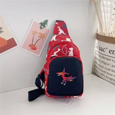 Kid Chest Bag Cute Girl Boy Fanny Cartoon Dinosaur Print Chest Bag Children Belt Bag Money Pouch Baby Zipper Waist Pack Bum Bag | akolzol
