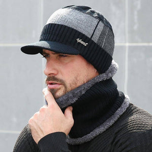 Winter Hats For Men Skullies Beanie Hat Winter Cap Men Women Wool Scarf Caps Set Balaclava Mask Gorras Bonnet Knitted Hat 2020 | akolzol
