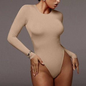 Cybill Winter White Bodysuit For Women Long Sleeve Bodysuit Women Bodycon Black Bodysuits One-Piece Body Female 2020 Romper |  | akolzol
