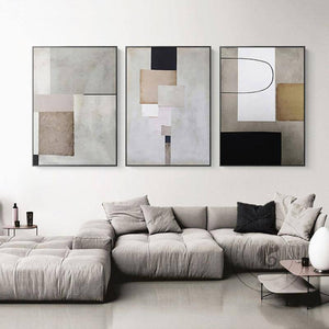 Modern Geometric Abstract Painting Industrial Style Canvas Poster Print Minimalist Wall Art Pictures for Living Room Home Decor | akolzol